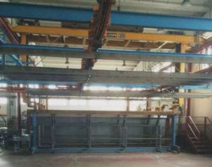 HORIZONTAL POWDER COATING LINE FOR ALUMINUM PROFILES