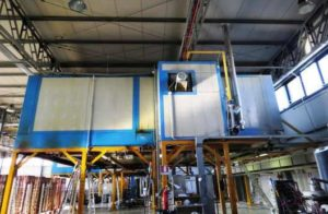 COMPACT POWDER COATING LINE FOR ALUMINIUM PROFILES BY TF
