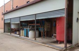 USED HORIZONTAL POWDER COATING LINE